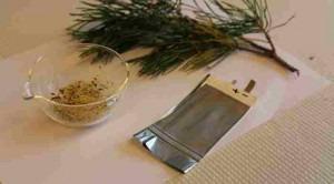 Μια μπαταρία από ανανεώσιμα , οργανικά υλικά